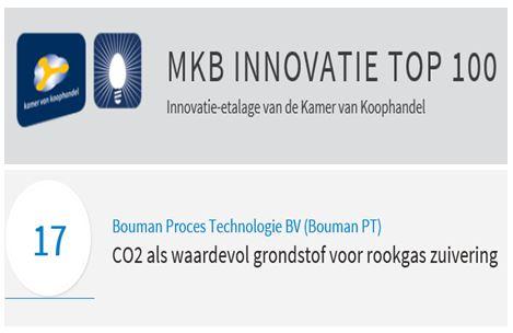Hoge ranking voor innovatie van Bouman